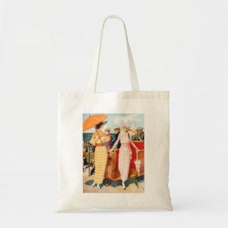 Senhoras do passeio à beira mar da mulher 20s das sacola tote budget