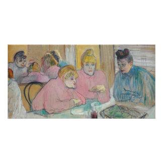 Senhoras na sala de jantar por Toulouse-Lautrec Cartão Com Foto