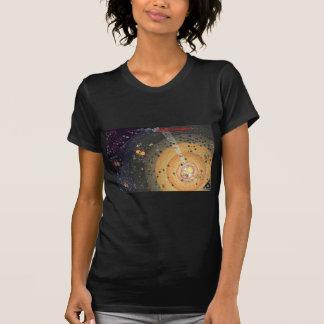 Senhoras pequeno T, colonização da fronteira alta Camiseta