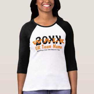 Senhoras personalizadas da caminhada da caridade camiseta