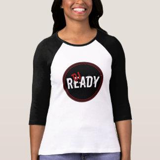 Senhoras prontas do DJ 3/4 de Raglan da luva T-shirt