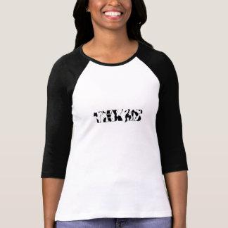 Senhoras TEXAS 3/4 de Raglan da luva (cabido) T-shirts