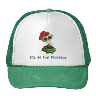 Senhorita morte de Diâmetro de Muertos Mexicano Boné
