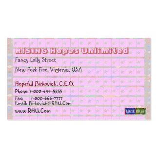 Senhorita Pakenham - estrelas cor-de-rosa Cartoes De Visitas