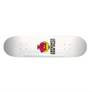 Senhorita pequena Contrário Shape De Skate 19,7cm