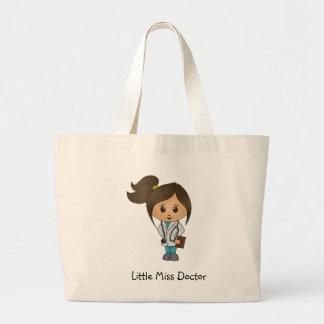 Senhorita pequena doutor - Brunette bonito Bolsa Tote Grande