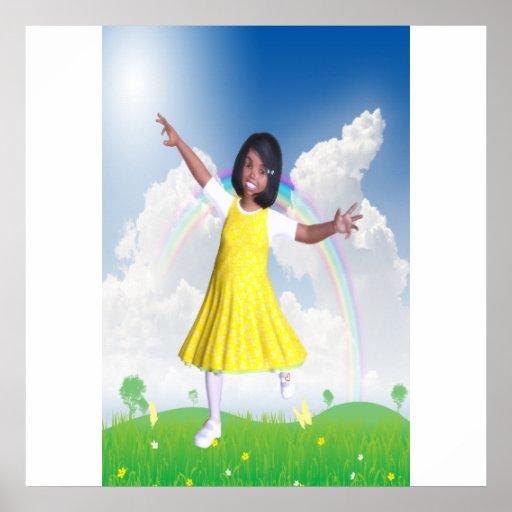 Senhorita pequena Luz do sol Poster