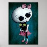 Senhorita pequena Morte - beleza do Dia das Bruxas Poster