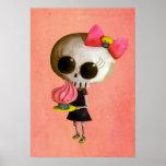 Senhorita pequena Morte com cupcake Poster