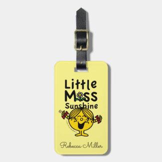 Senhorita pequena pequena Luz do sol Riso da Etiqueta De Bagagem