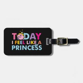 Senhorita pequena princesa | que eu sinto como uma etiqueta de bagagem
