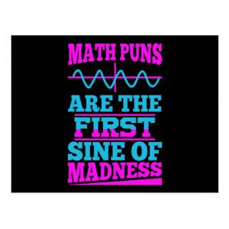 Seno das chalaças da matemática da loucura! Cartão