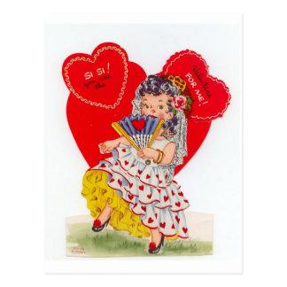 Senorita espanhol Namorados do vintage Cartão Postal
