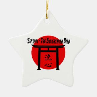 Senshin - o blogue iluminado das artes marciais da ornamento de cerâmica estrela