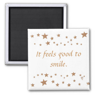 Sente bom sorrir ímãs vívidos das estrelas do ouro imã