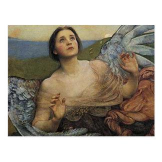 Sentido do anjo do cartão da vista cartões postais
