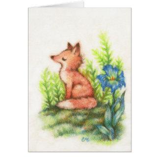 Sentimento Foxy - cartão bonito da arte do Fox