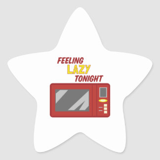 Sentimento preguiçoso adesito estrela