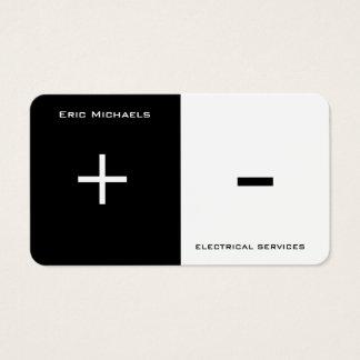 Separação bilateral da arte elétrica cartão de visitas