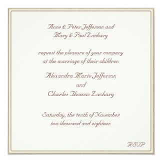 Sepia bege convite Wedding quadro
