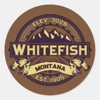 Sepia do logotipo do peixe branco adesivo