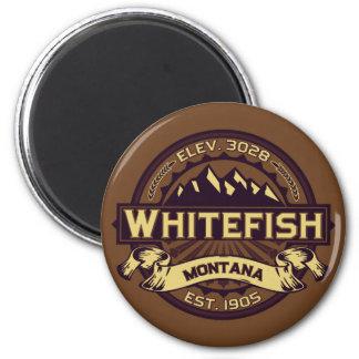 Sepia do logotipo do peixe branco imas