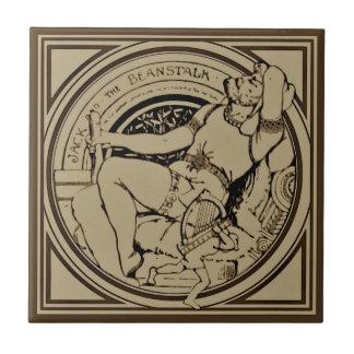 Sepia Minton Jack & azulejo do conto de fadas do