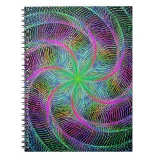 Septopus prendido cadernos espiral
