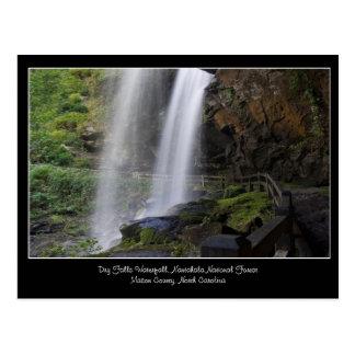 Seque o cartão da cachoeira das quedas