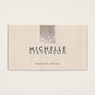 Sequin chique moderno do falso do maquilhador cartão de visitas