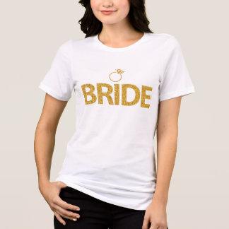 Sequins Bachelorette do ouro das camisas da noiva