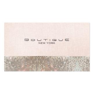 Sequins do falso e boutique chique cor-de-rosa cartão de visita