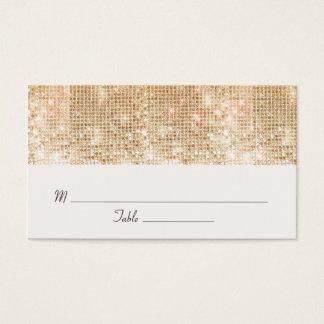 Sequins elegantes do ouro que Wedding o cartão do