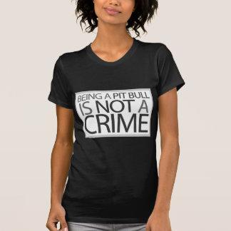 Ser um pitbull não é um crime t-shirts