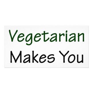 """Ser vegetariano fá-lo mais """"sexy"""" cartao com fotos"""