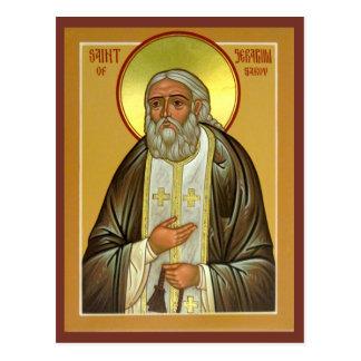 Seraphim do santo do cartão da oração de Sarov