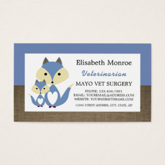Serapilheira do Fox azul, veterinário, veterinário Cartão De Visitas