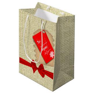 Serapilheira do Natal Sacola Para Presentes Média