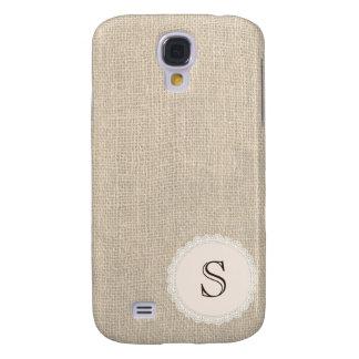 Serapilheira do vintage & monograma do Doily do Galaxy S4 Cover