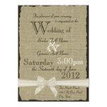 Serapilheira e casamento rústico dos arcos convites personalizado