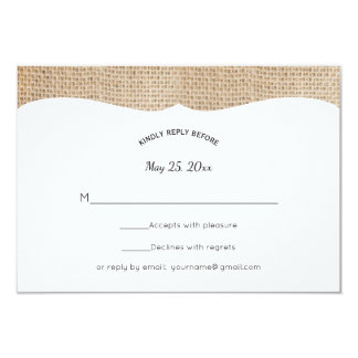 Serapilheira rústica que Wedding RSVP Convite 8.89 X 12.7cm