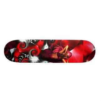 Sereia da arte da fantasia do skate em Shell