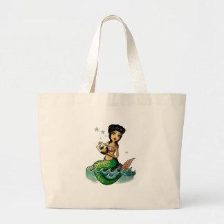 Sereia da reggae da velha escola bolsas para compras