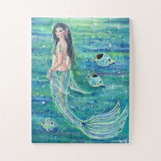 Sereia de Andrina com quebra-cabeça do angelfish