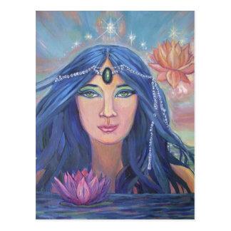 Sereia de Lotus - arte de BySusan Rodio do cartão