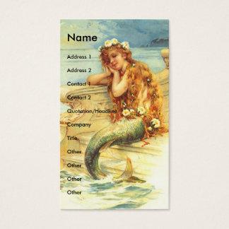Sereia do vintage cartão de visitas