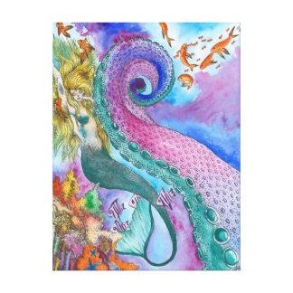 Sereia e canvas de Kraken