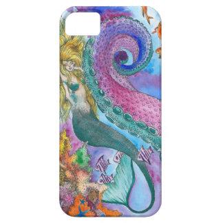 Sereia e capa de telefone de Kraken
