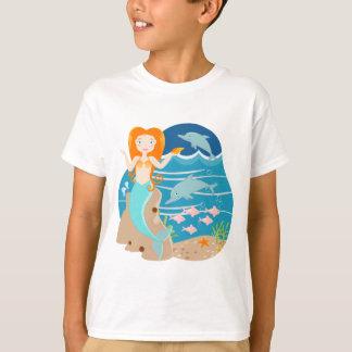 Sereia e festa de aniversário dos golfinhos camiseta