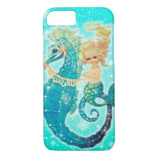Sereia em capas de iphone do cavalo marinho